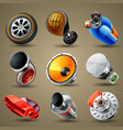car parts and services icons vector image