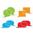 set of chat bubbles of different colors and shapes vector image