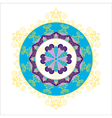 Abstract round snowflake vector image vector image