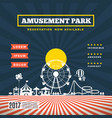 amusement park theme background vector image vector image