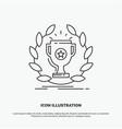 award cup prize reward victory icon line gray vector image vector image