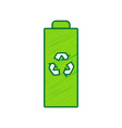 battery recycle sign lemon vector image
