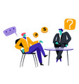business meeting boss and candidate or worker vector image vector image