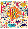 Cartoon marine life vector image vector image