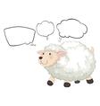 Cartoon Thinking Sheep vector image vector image