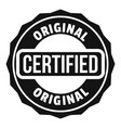 certified logo simple style vector image