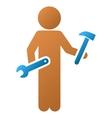 Child Serviceman Gradient Icon vector image vector image