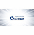 christmas blue background merry wish vector image