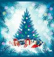 christmas holiday background with a lantern vector image vector image