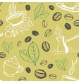 Coffee Hand Drawn Seamless Pattern vector image vector image