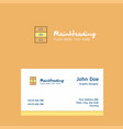 cupboard logo design with business card template vector image vector image