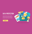 data protection banner vector image vector image