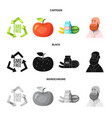 design of and icon set of and stock sy vector image