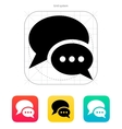 Dialogue bubble icon vector image