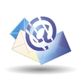 Email blue and envelopes of different colors vector image vector image