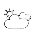 figure beauty weather of clouds with sun vector image vector image