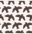 flying folk art bird seamless pattern vector image