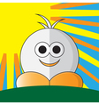 funny figure with orange shoes vector image vector image