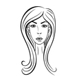 Girl face Fashion vector image