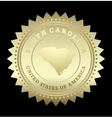 Gold star label South Carolina vector image vector image