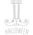 halloween card design with witch legs antistress vector image vector image