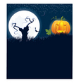 Halloween moon tree vector image vector image