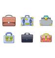 handbag icon set cartoon style vector image