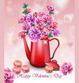 happy valentines day realistic card with vector image