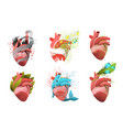 heart health and cardiology concepts designs vector image vector image