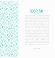 hospital concept with thin line icons vector image vector image