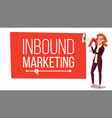 inbound marketing banner female with vector image