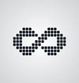 infinity sign logotype vector image vector image
