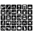 international direction signs set vector image vector image
