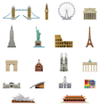 Landmark icon set vector | Price: 3 Credits (USD $3)