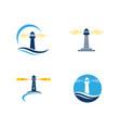 light house logo template icon vector image