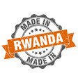made in rwanda round seal vector image vector image