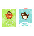 merry christmas card penguin in sweater on skates vector image vector image