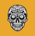 mexican dia de los muertos tattoo golf element vector image vector image