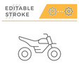 motocross motorcycle line icon vector image vector image