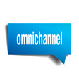 omnichannel blue 3d speech bubble vector image vector image