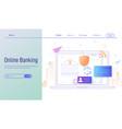 online banking modern modern flat design concept vector image vector image
