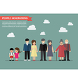 People generations in flat style vector image