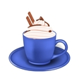 Photo Realistic Cup of Cream and Chocolate Sticks vector image vector image