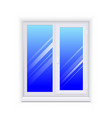 realistic glass window with sill vector image vector image