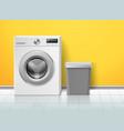 realistic washing machine empty electronic washer vector image