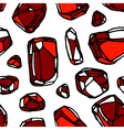 red stone seamless pattern white background pr vector image