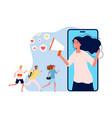 referral program online marketing woman vector image vector image