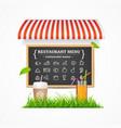 restaurant menu concept vector image vector image