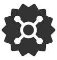roulette token flat icon vector image