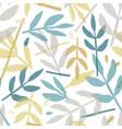 rowan leaves hand drawn seamless pattern vector image